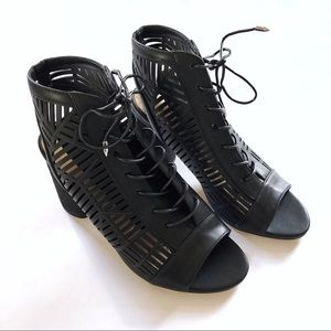 Sam Edelman Shoes - Sam Edelman Rocco cutout lace up booties heels NEW